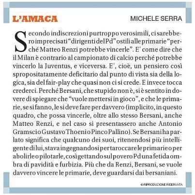 Michele Serra l'Amaca 21 Settembre 2012