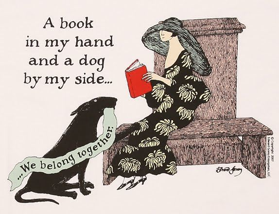 a book & a dog