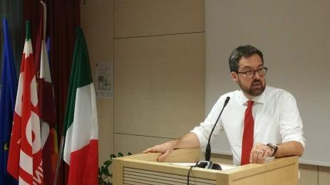il segretario generale della Cgil del Trentino, Franco Ianeselli