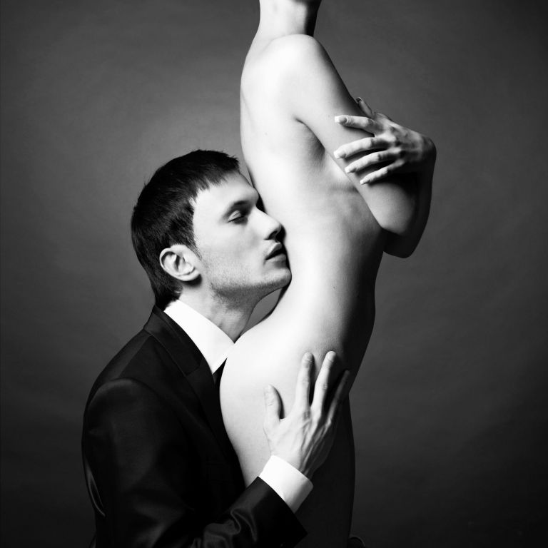 41971069 - portrait of young elegant couples in the tender passion